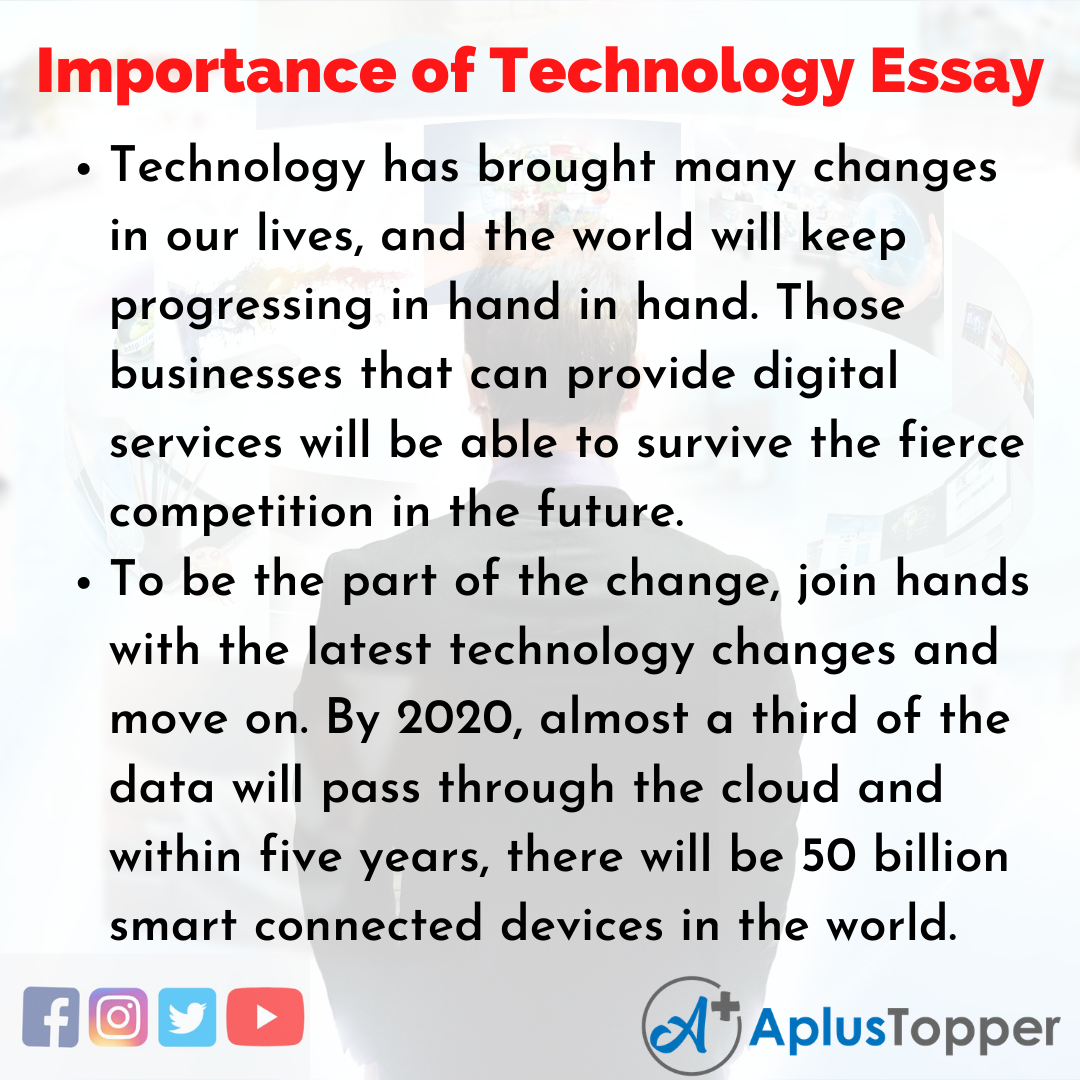 Essay about Importance of Technology in English