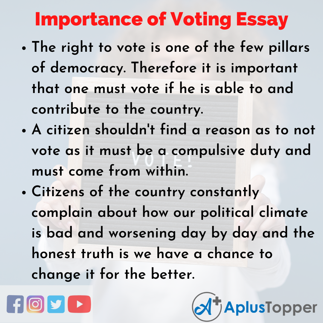 Essay about Importance of Voting