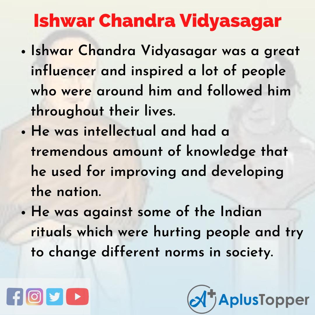 Essay about Ishwar Chandra Vidyasagar