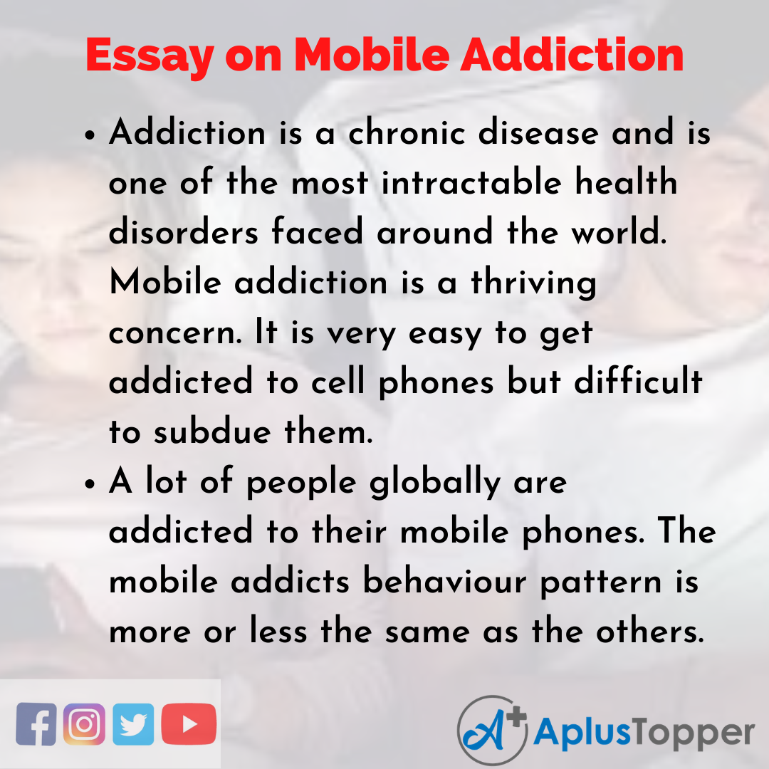 Essay about Mobile Addiction