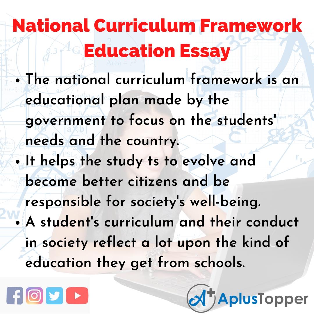 Essay about National Curriculum Framework Education