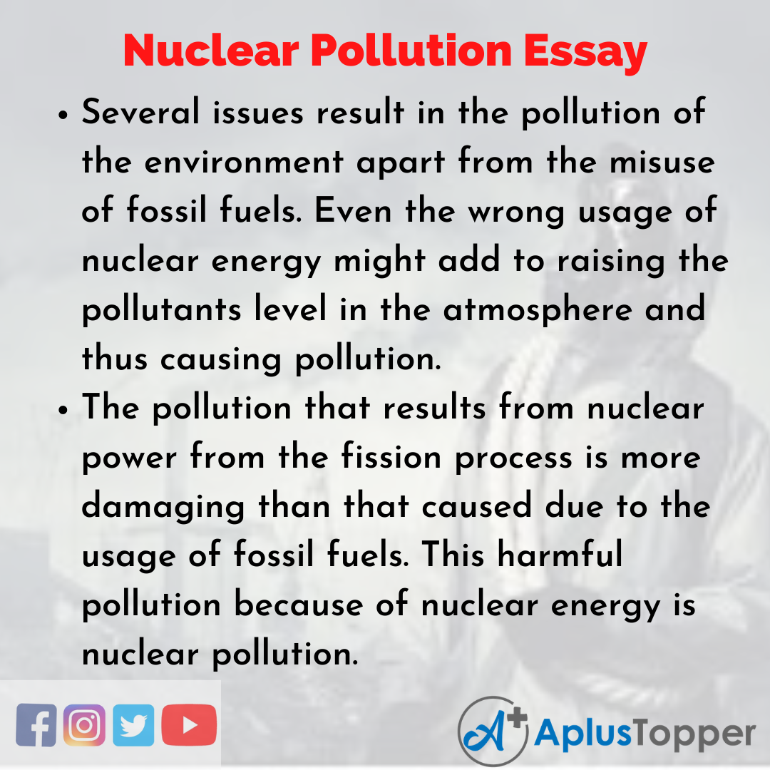 Essay about Nuclear Pollution