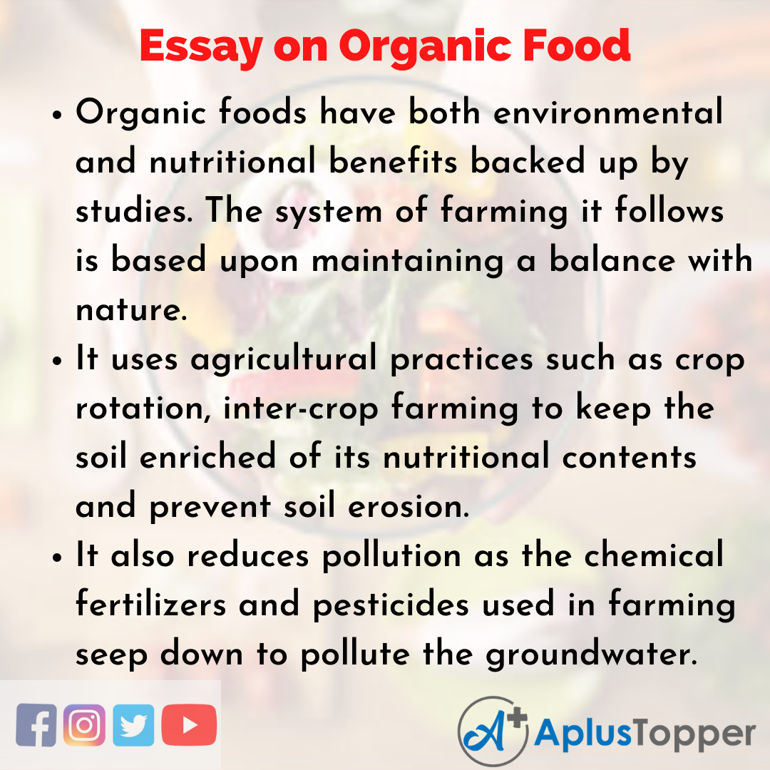 Essay about Organic Food