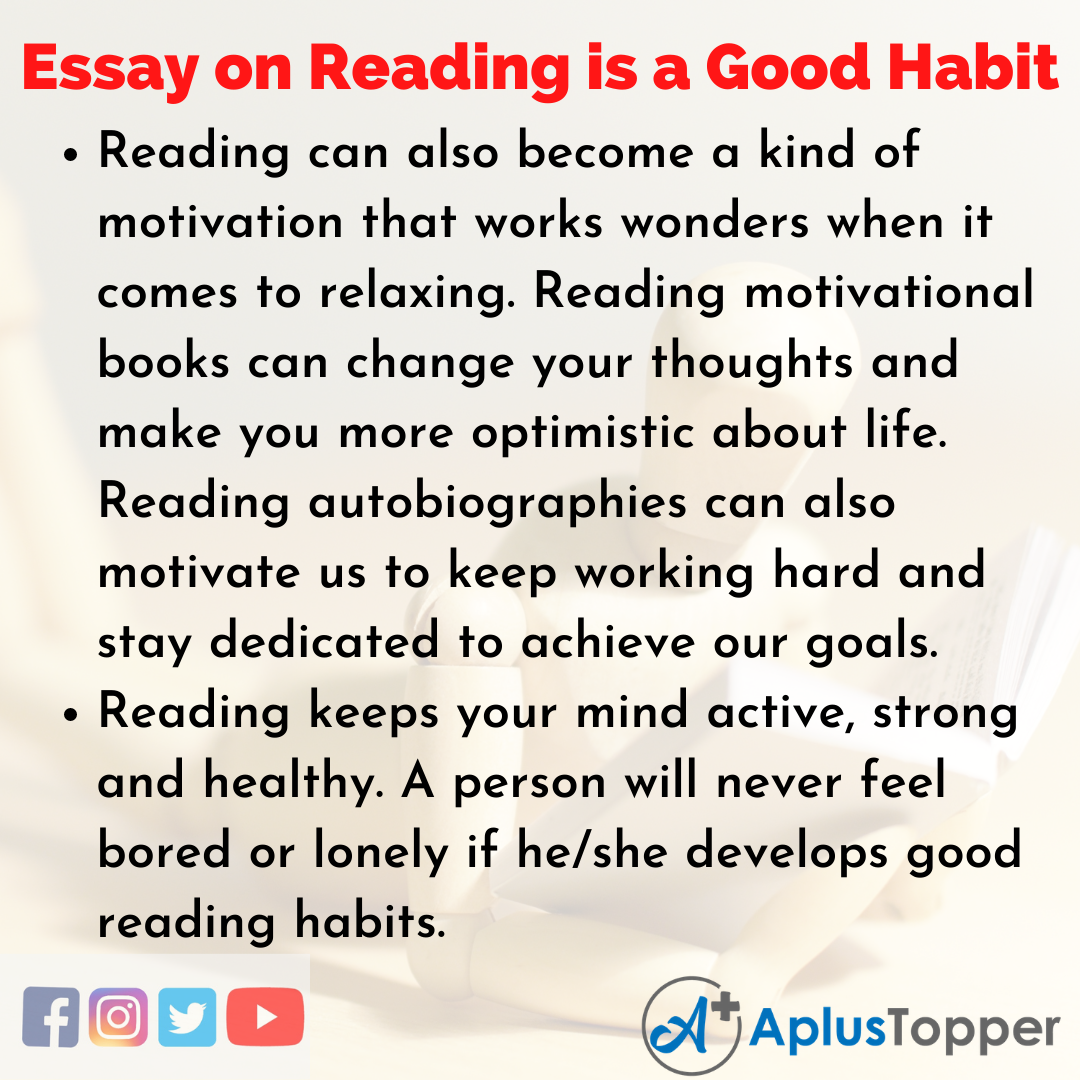 Essay about Reading is a Good Habit