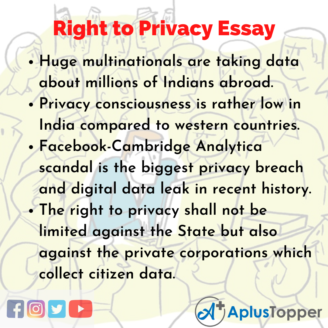 Essay about Right to Privacy