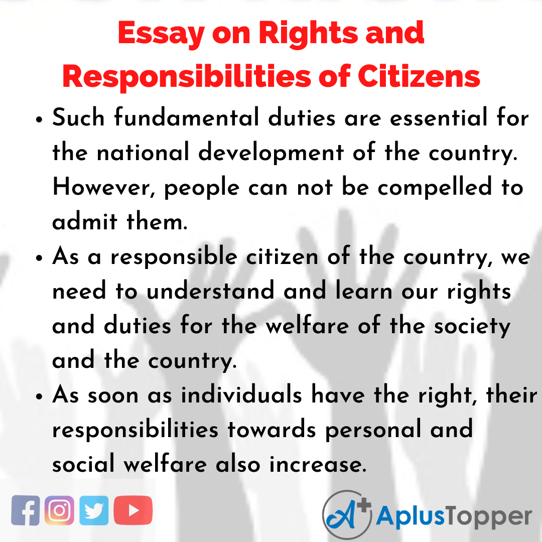 Essay about Rights and Responsibilities of Citizens