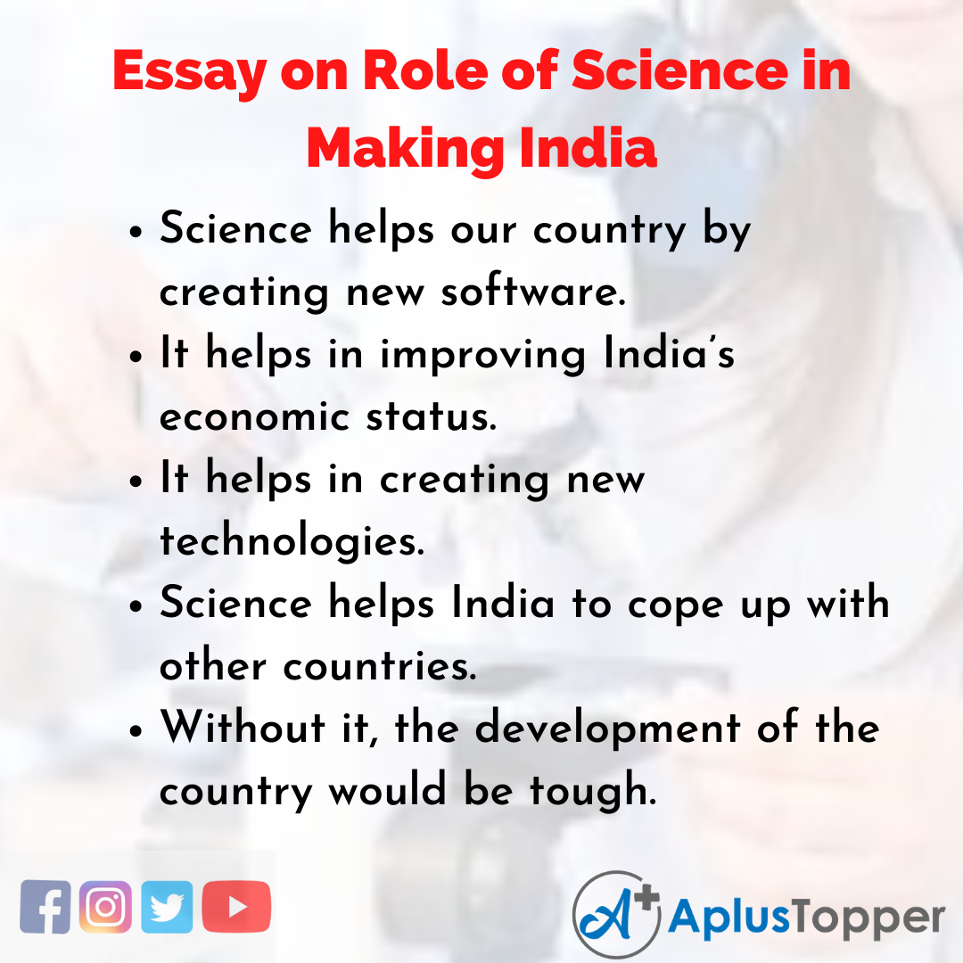 Essay about Role of Science in Making India