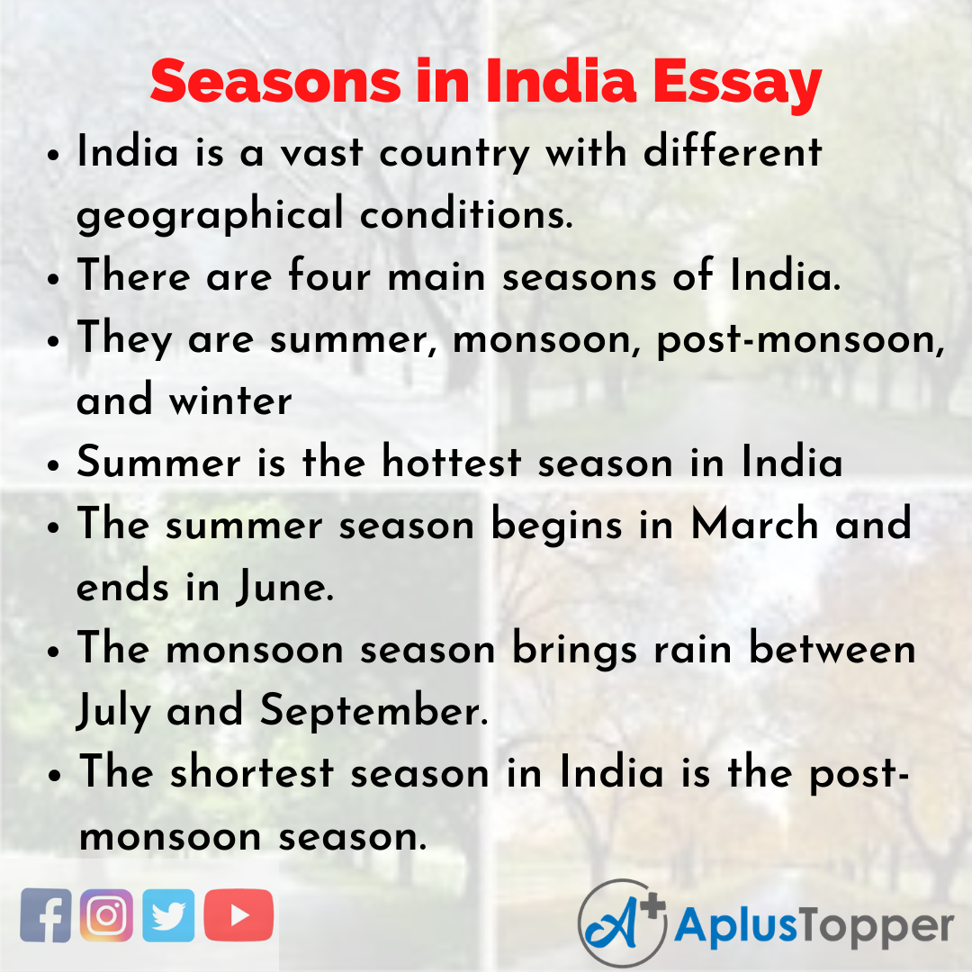Essay about Seasons in India
