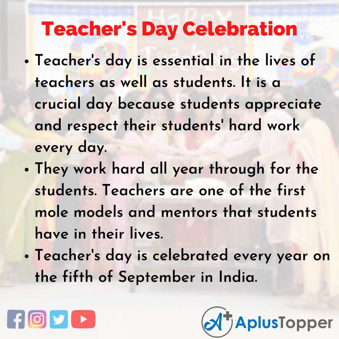 Essay about Teacher's Day Celebration