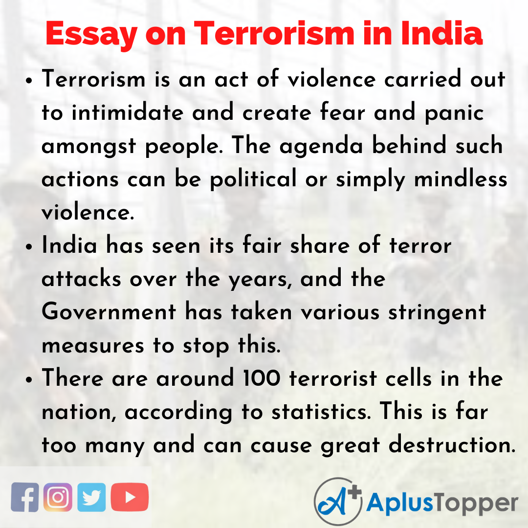Essay about Terrorism in India