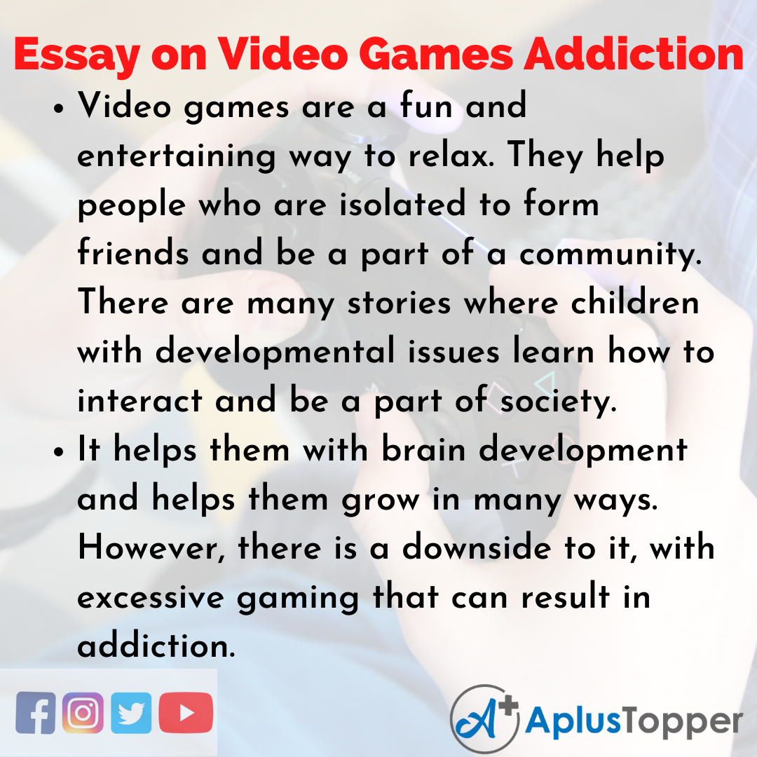 Essay about Video Games Addiction