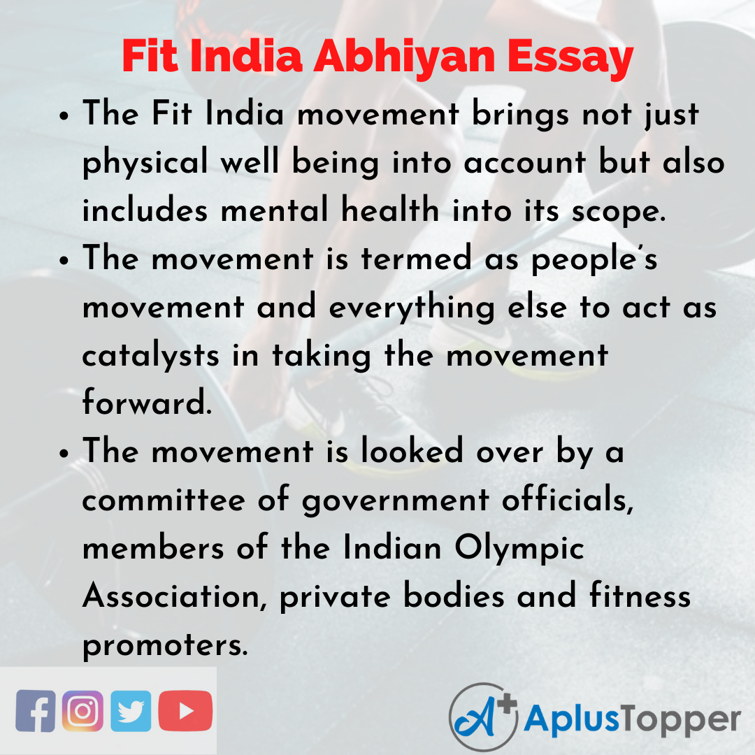 Essay for Fit India Abhiyan
