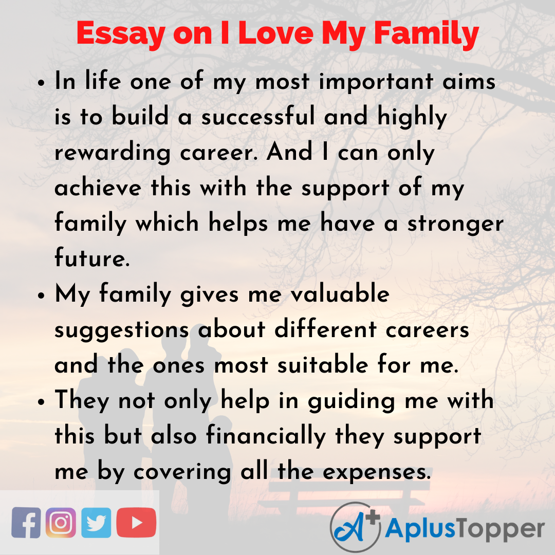 Essay for I Love My Family