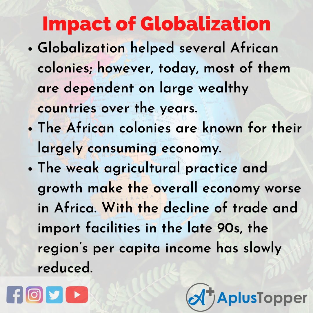 Essay for Impact of Globalization