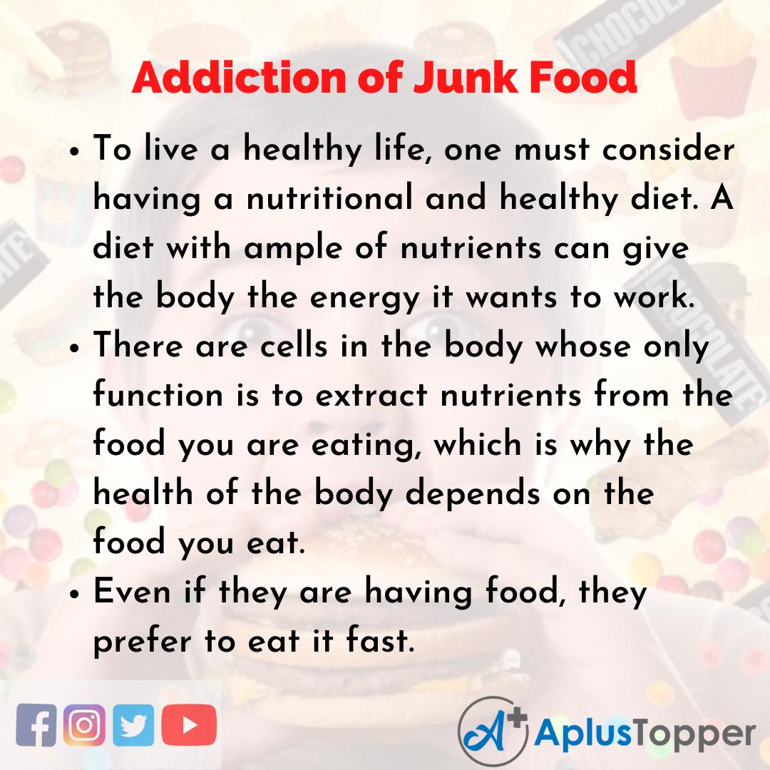 Essay on Addiction of Junk Food
