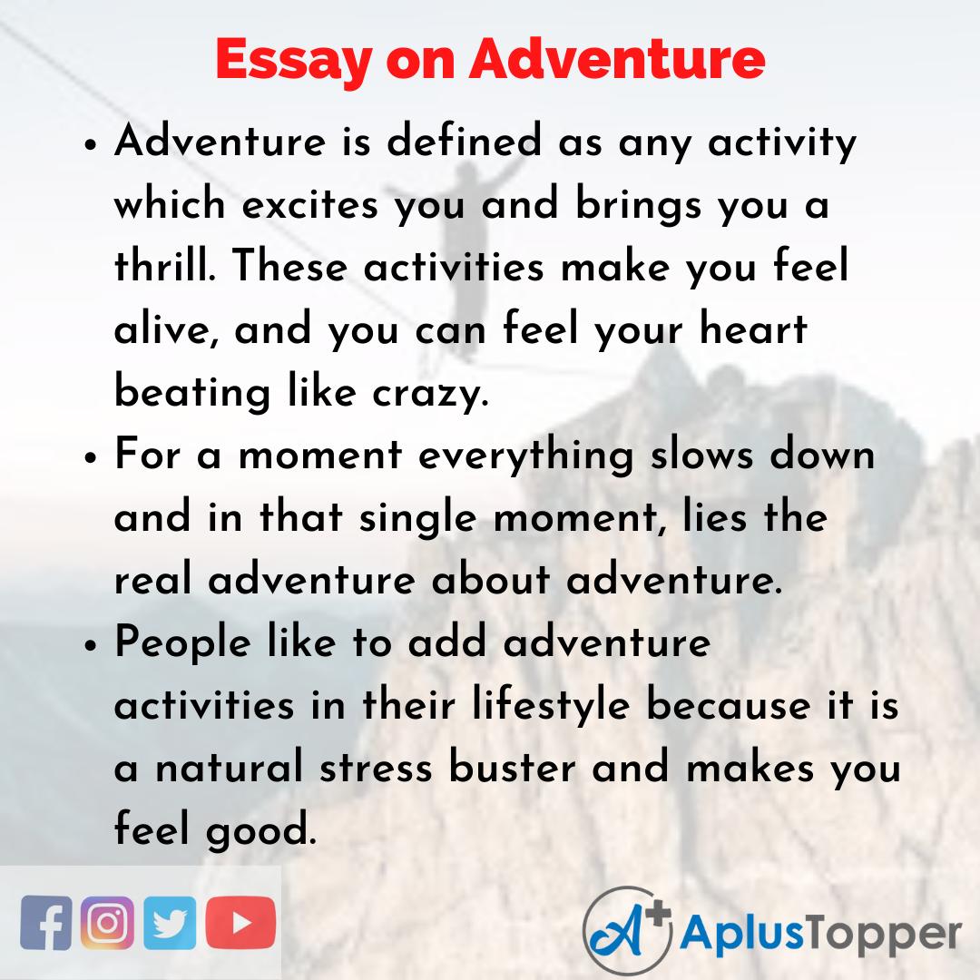 Essay on Adventure
