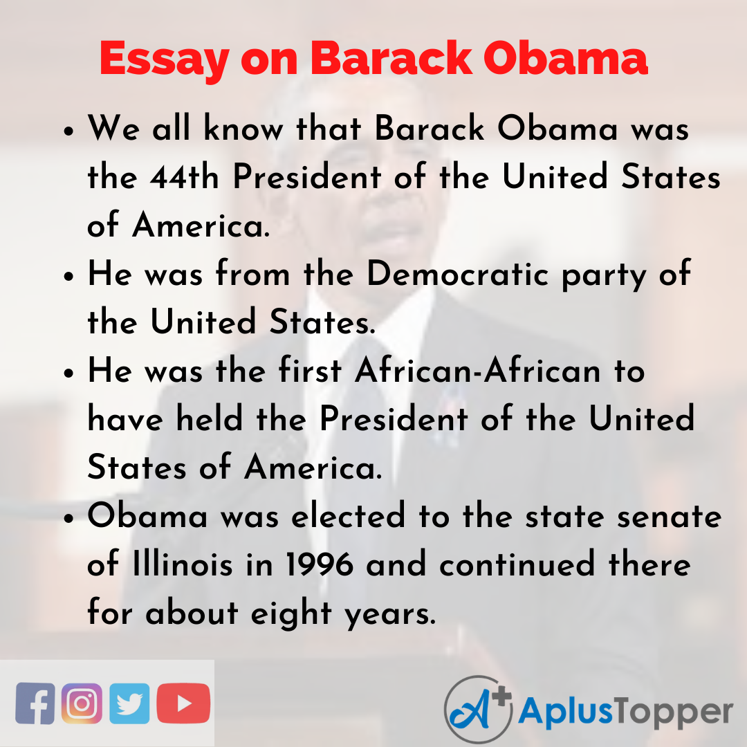 Essay on Barack Obama