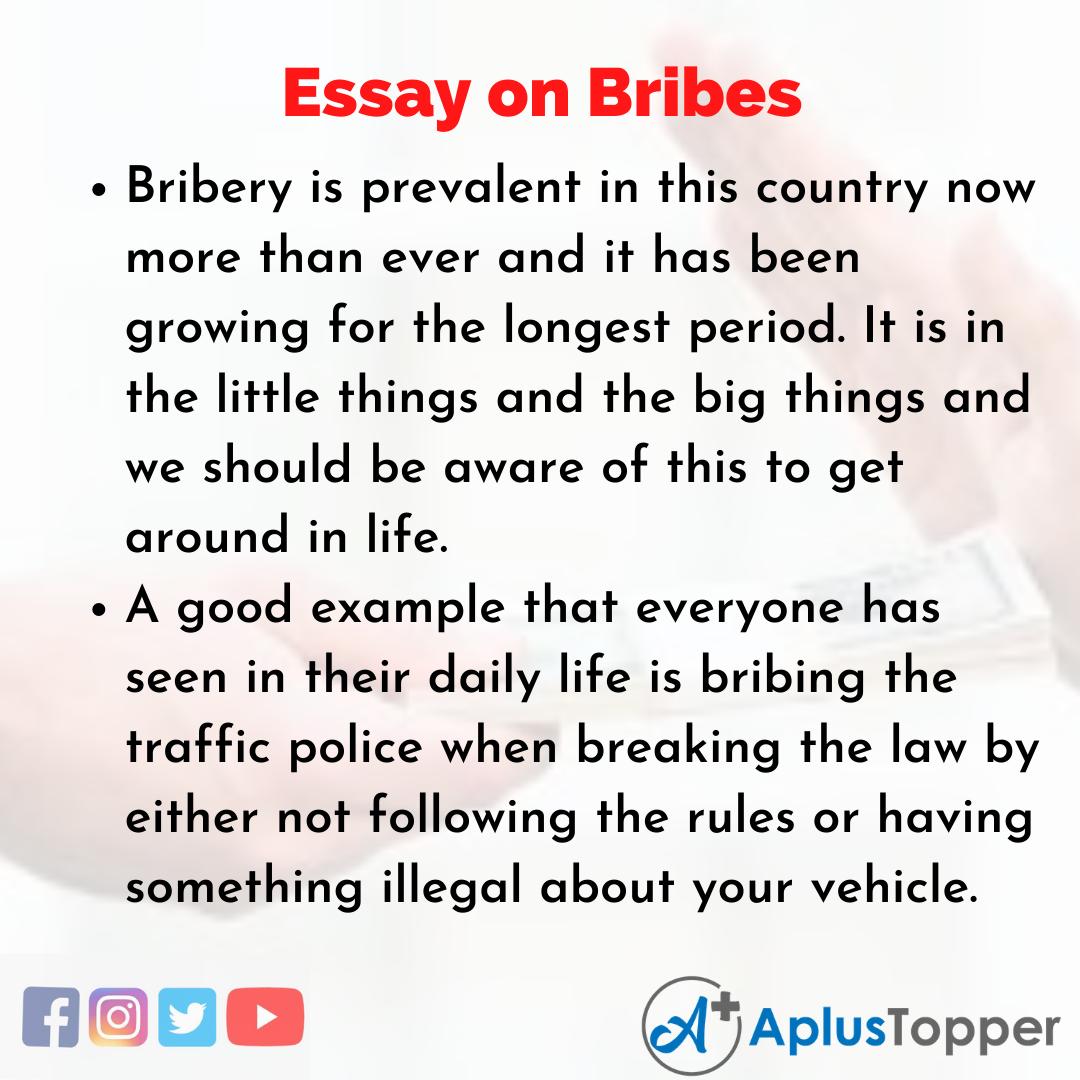 Essay on Bribes