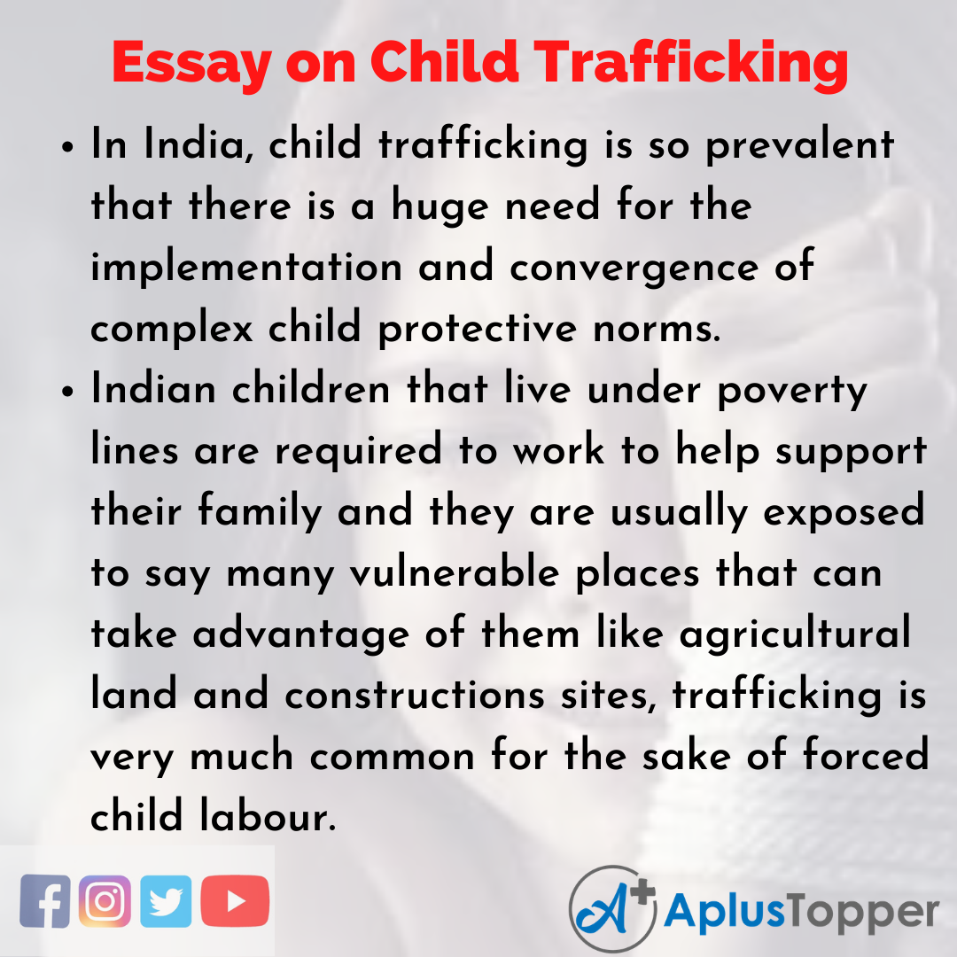Essay on Child Trafficking