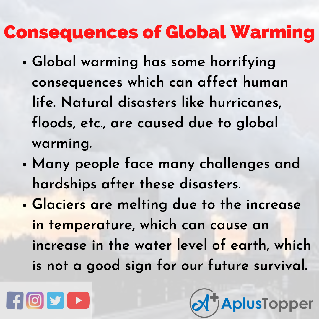 Essay on Consequences of Global Warming