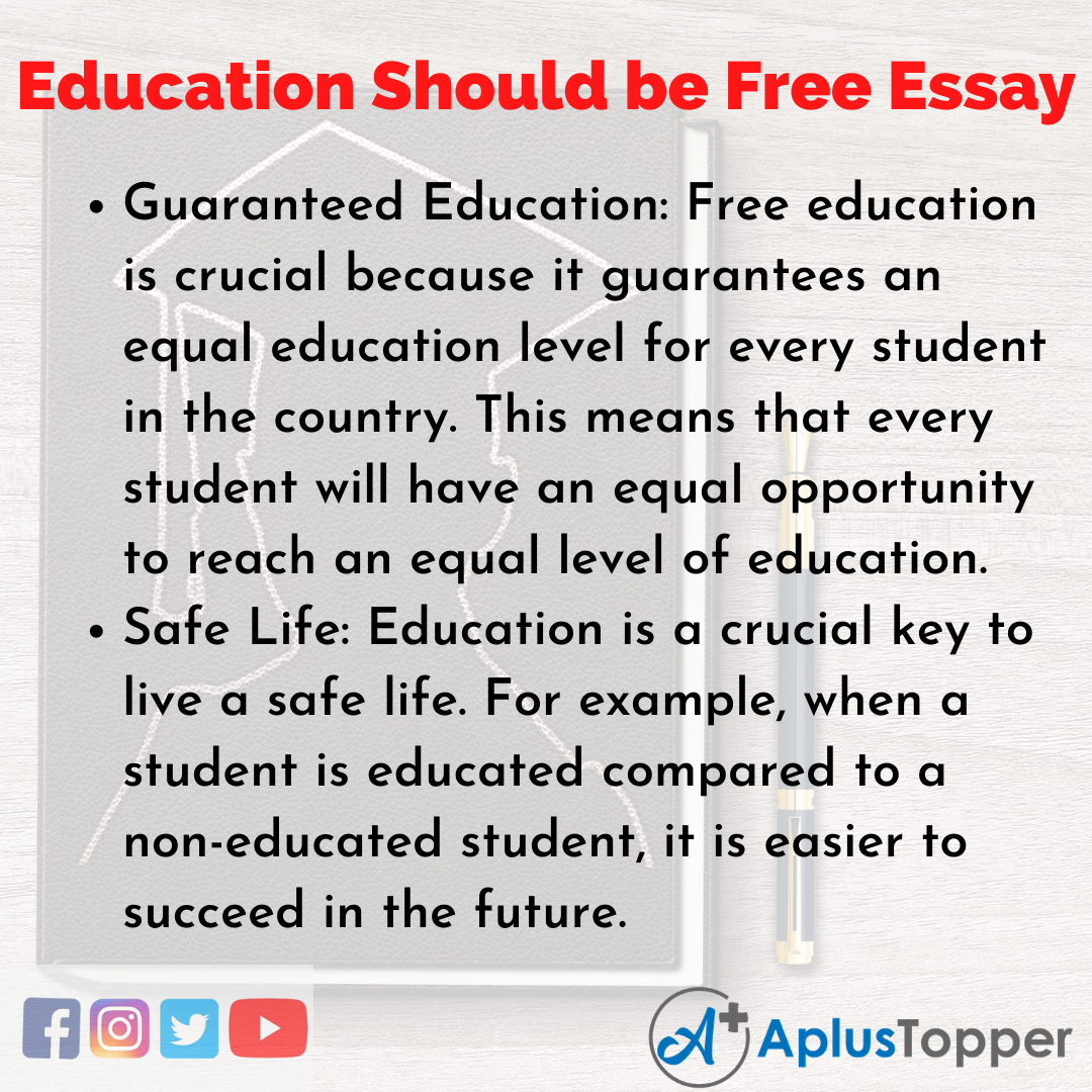 Essay on Education Should be Free