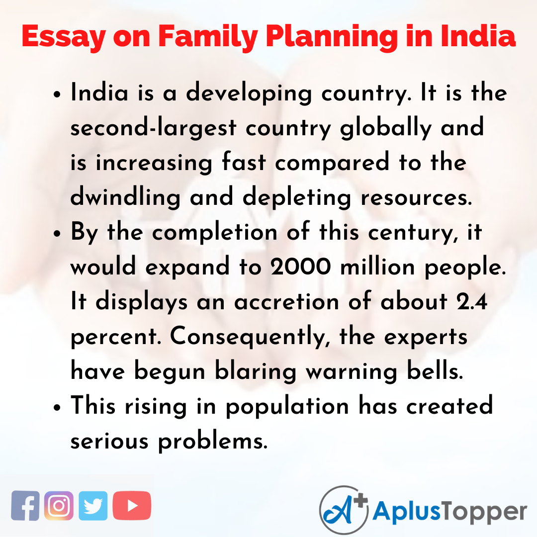 Essay on Family Planning in India