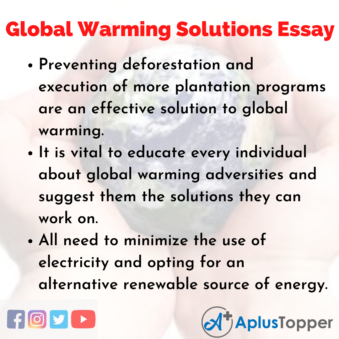 Essay on Global Warming Solutions