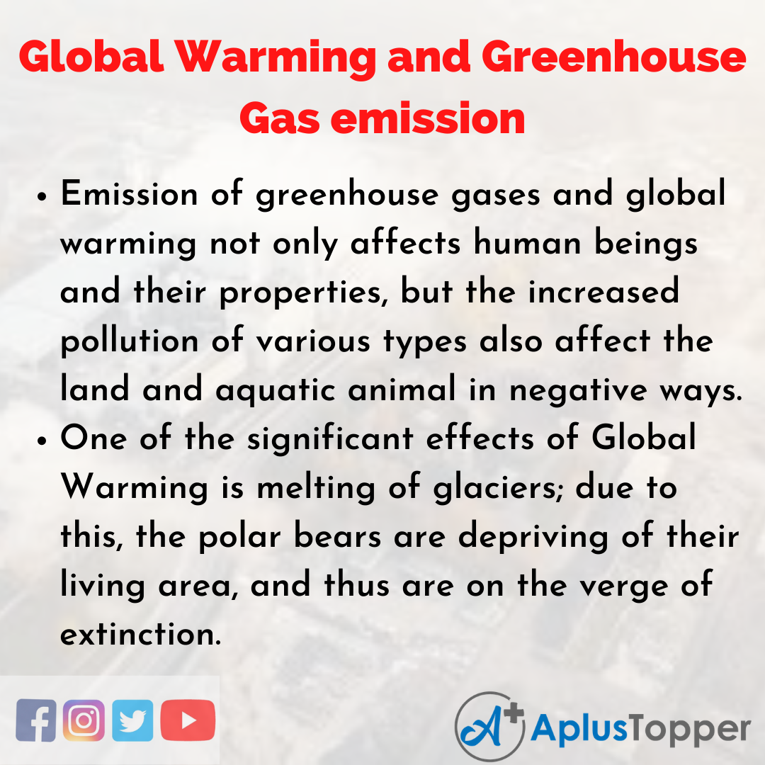 Essay on Global Warming and Greenhouse Gas emission