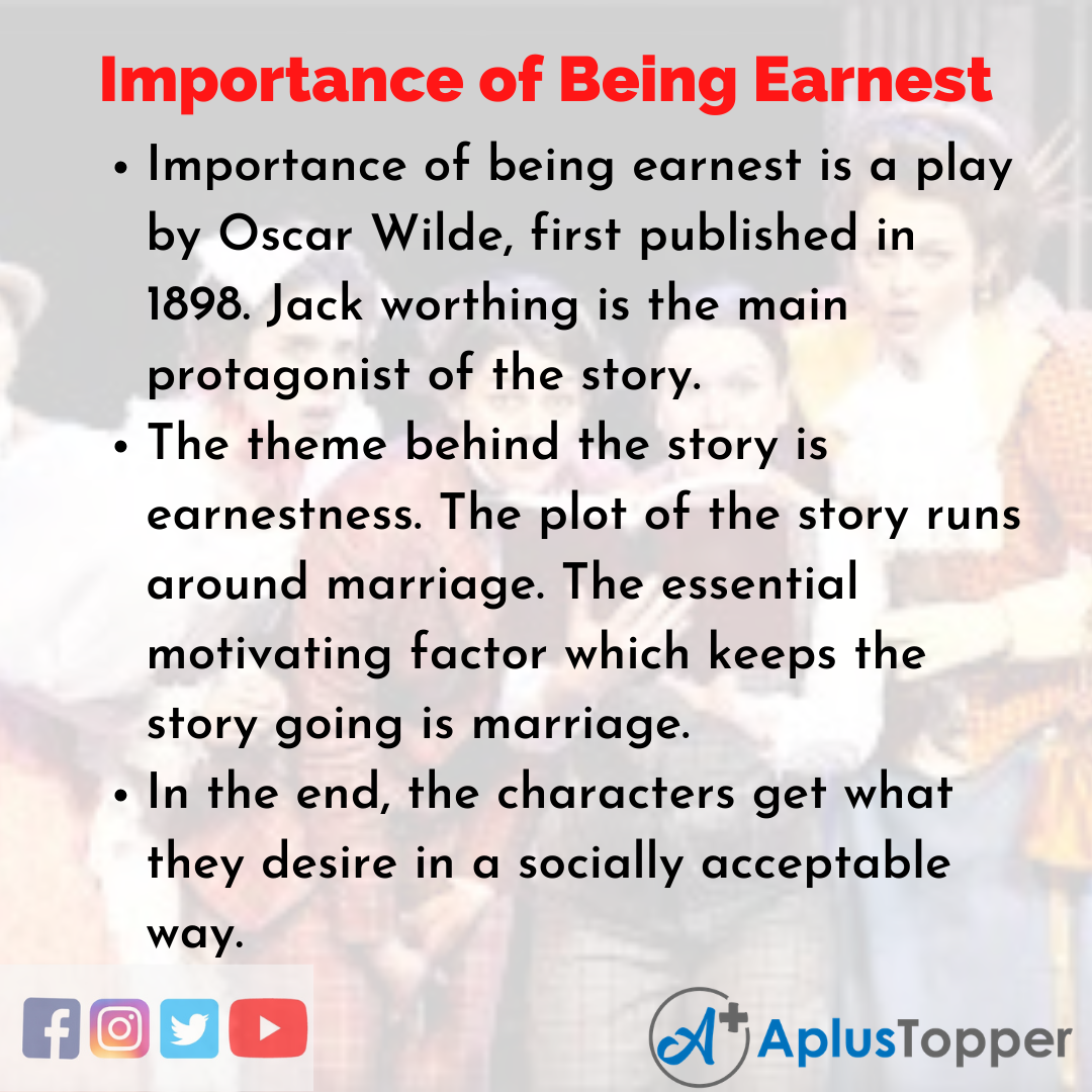 Essay on Importance of Being Earnest