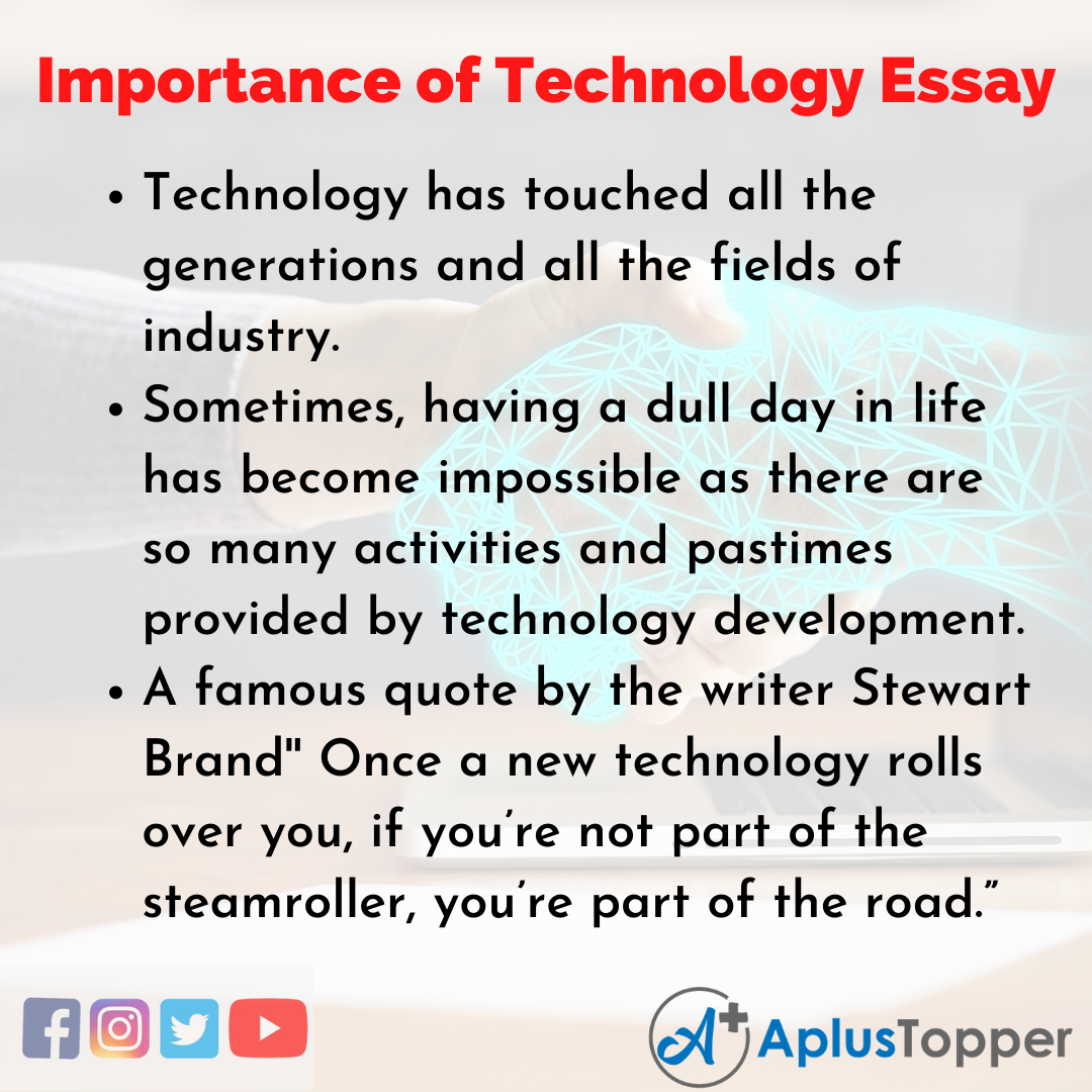 Essay on Importance of Technology in English
