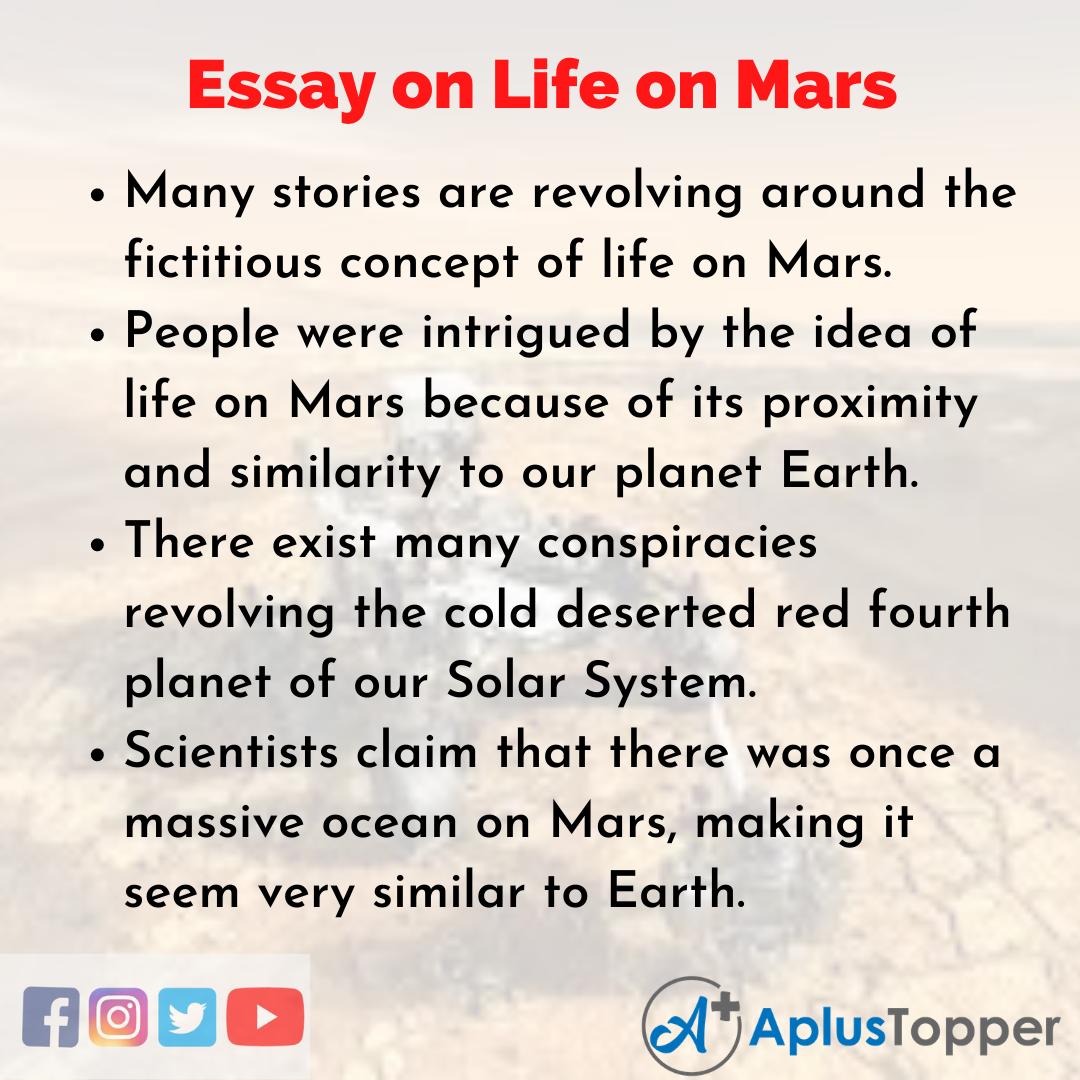 Essay on Life on Mars