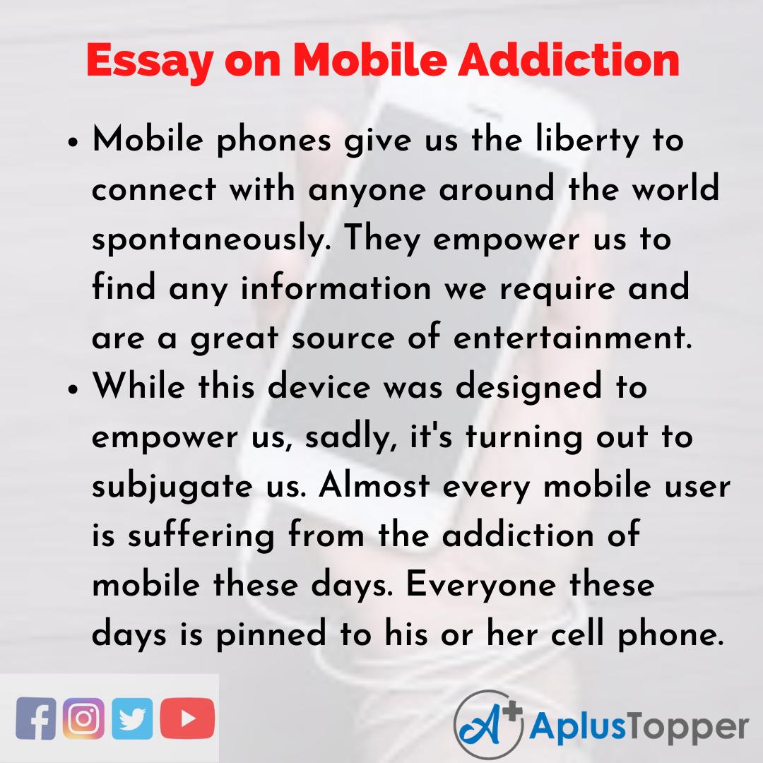 Essay on Mobile Addiction