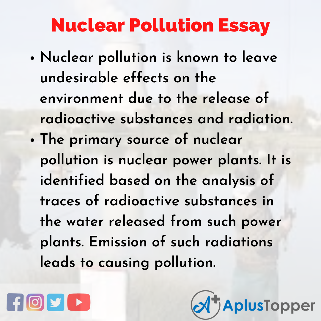 Essay on Nuclear Pollution
