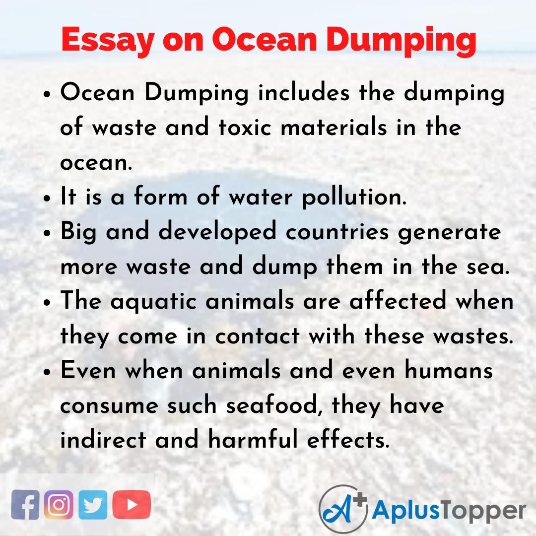 Essay on Ocean Dumping