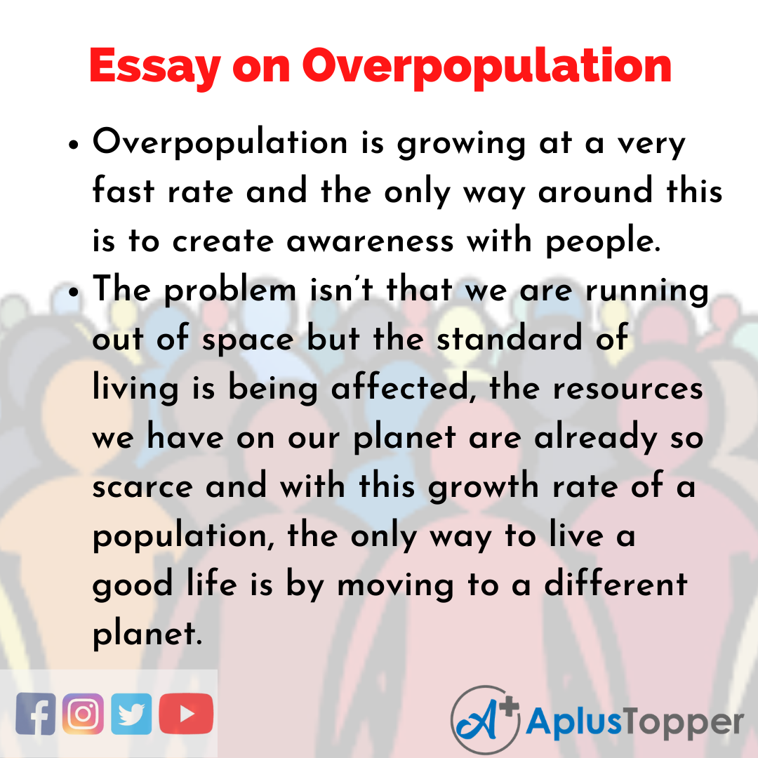 Essay on Overpopulation