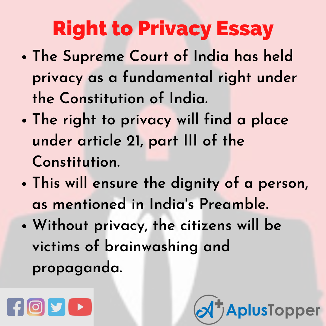 Essay on Right to Privacy