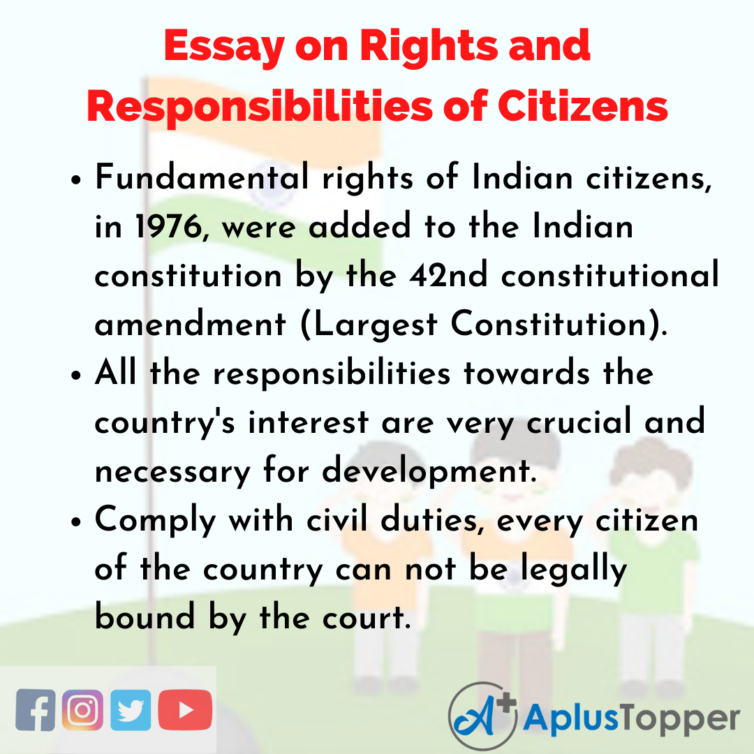 Essay on Rights and Responsibilities of Citizens