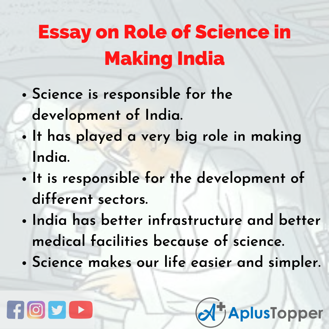 Essay on Role of Science in Making India