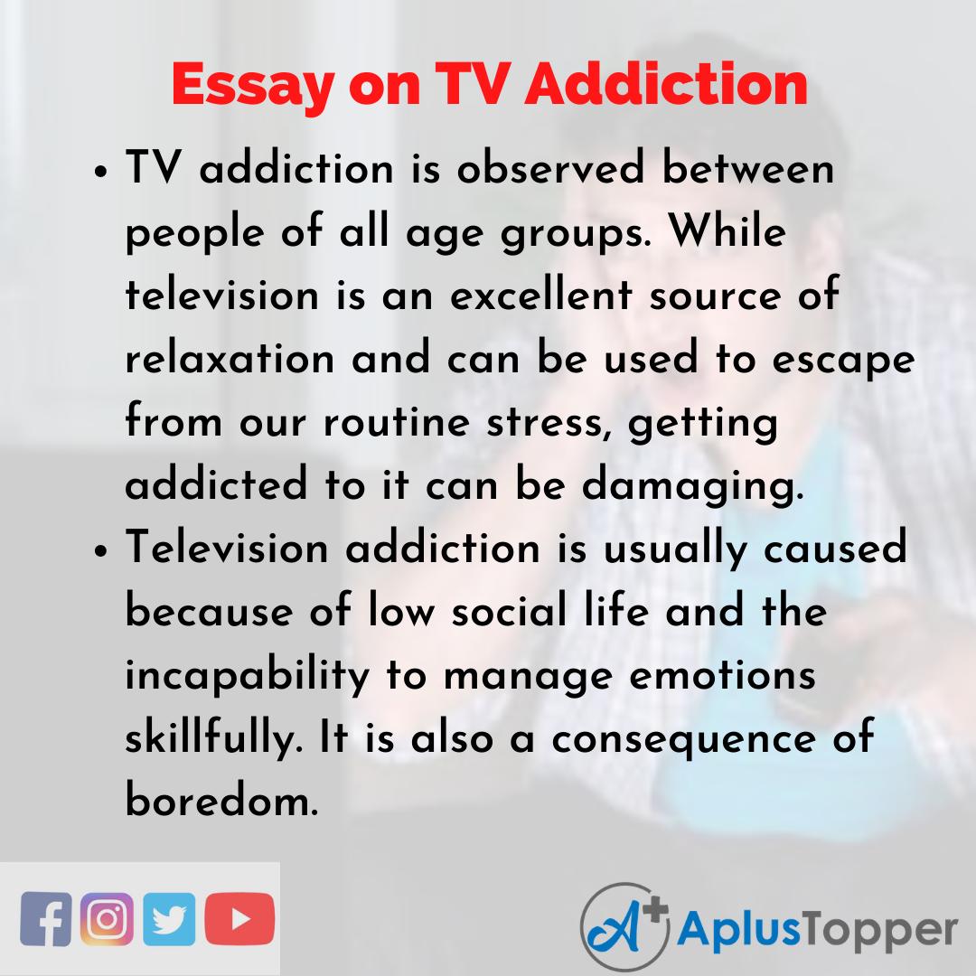 Essay on TV Addiction