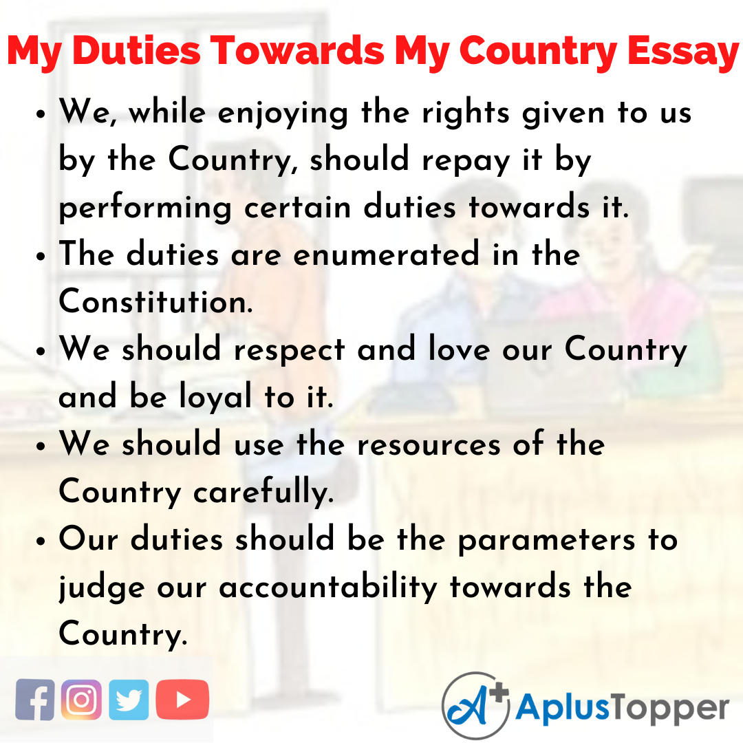 Essay on my Duties Towards My Country
