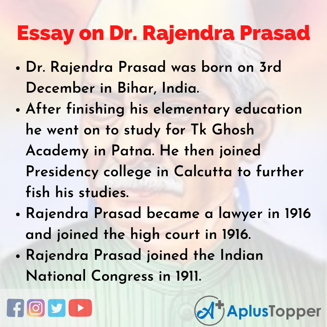 Long Essay on Dr. Rajendra Prasad