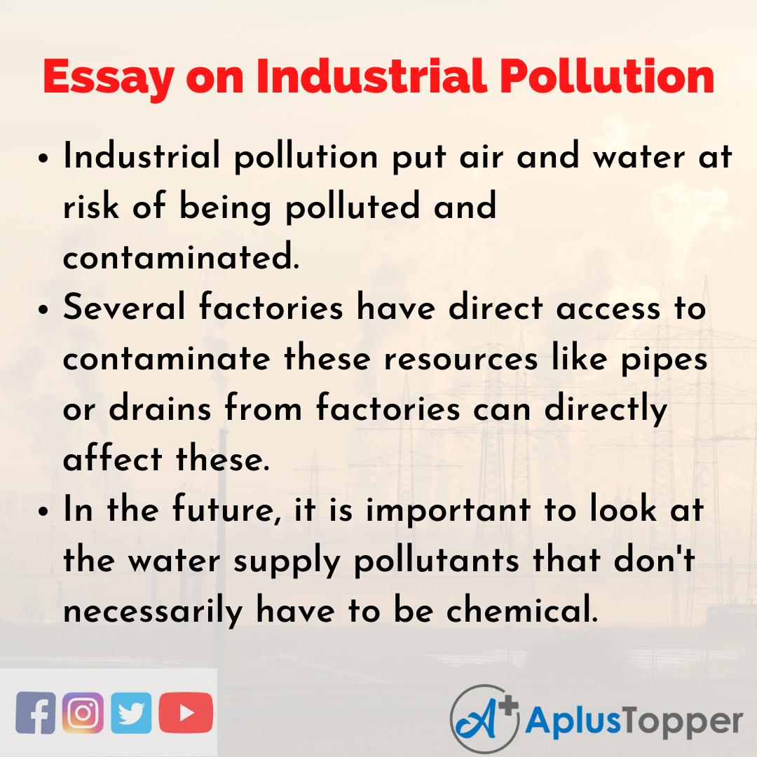 Long Essay on Industrial Pollution