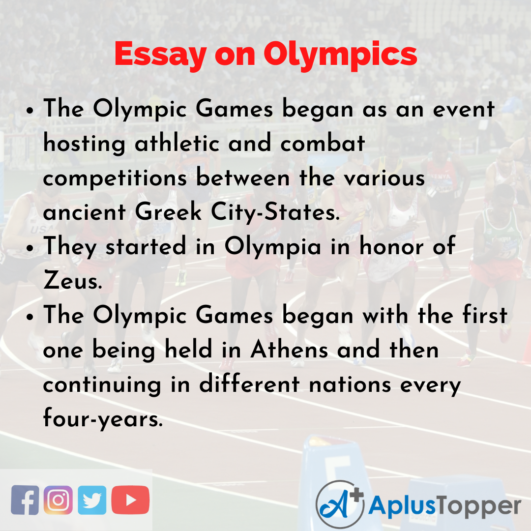 Long Essay on Olympics