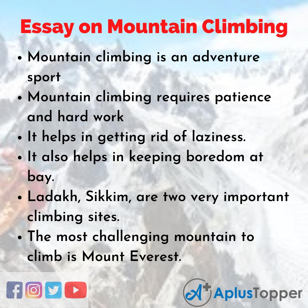 Mountain Climbing Essay