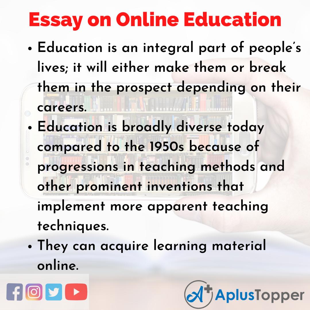 Online Education Essay