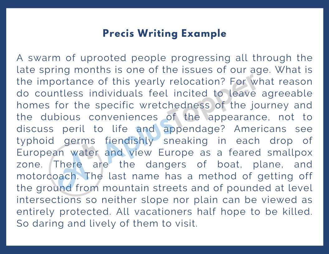 Precis Writing How To Write Precis Uses Rules And Example Of Precis A Plus Topper [ 816 x 1056 Pixel ]
