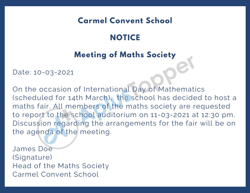 School Notice