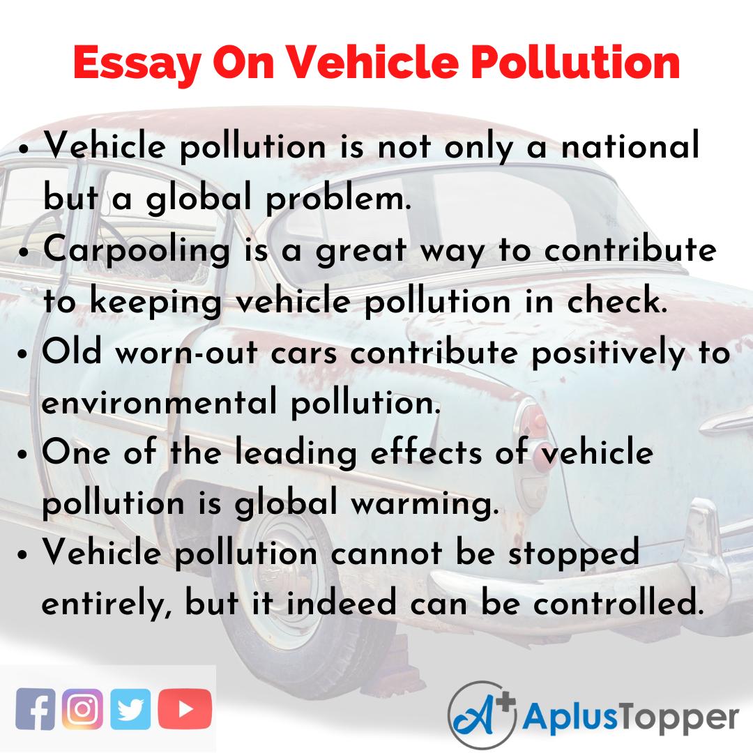 Short Essay On Vehicle Pollution