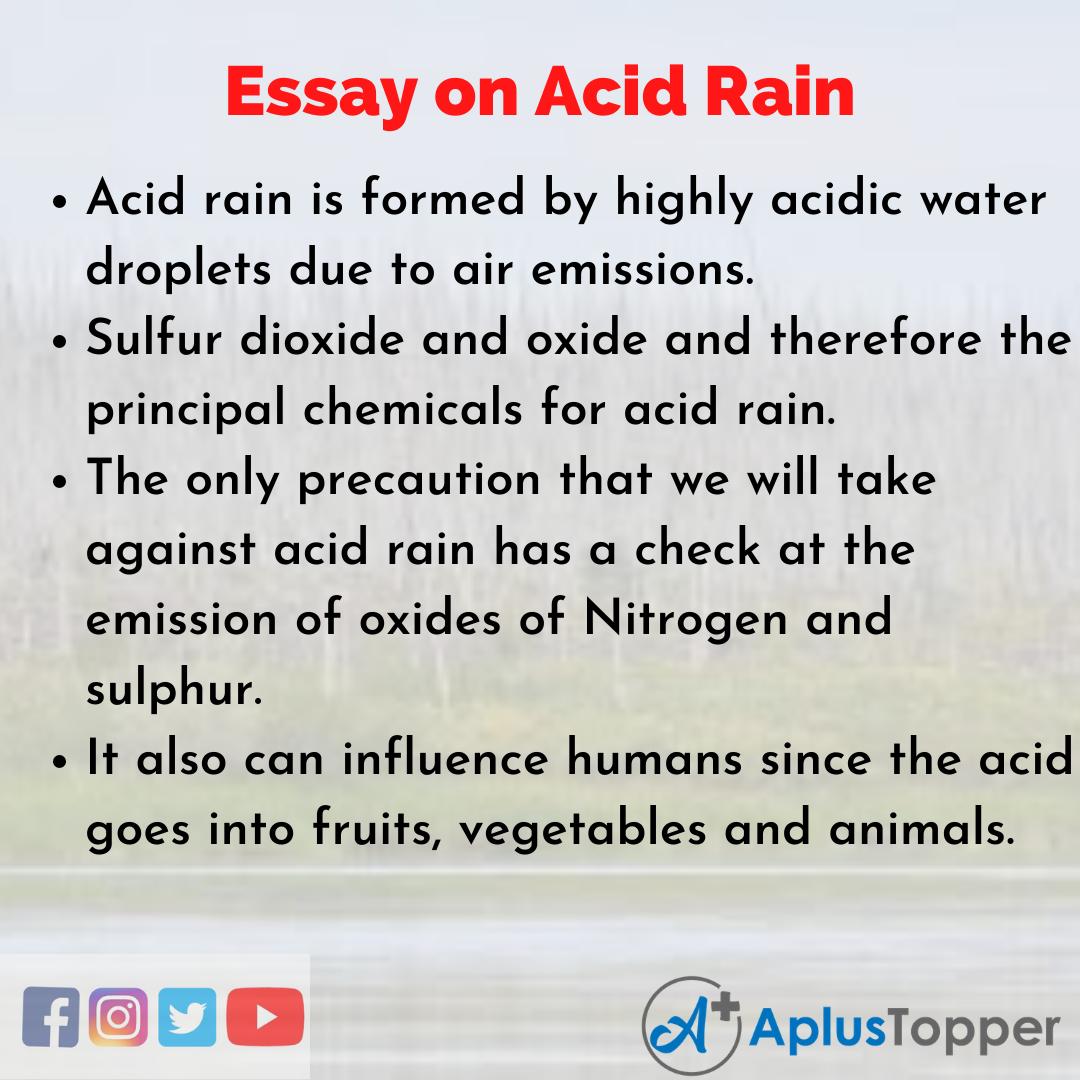 Short Essay on Acid Rain