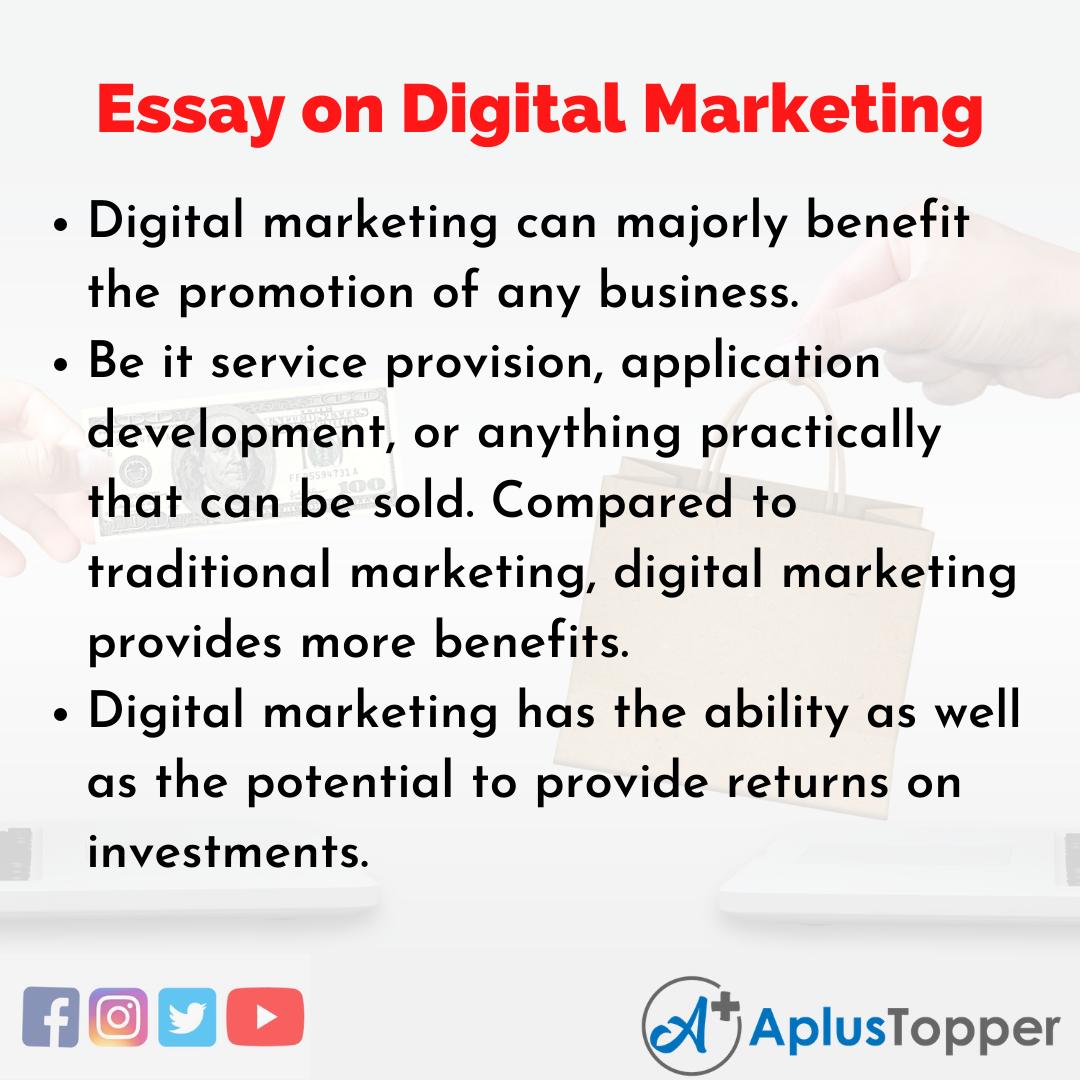 Short Essay on Digital Marketing